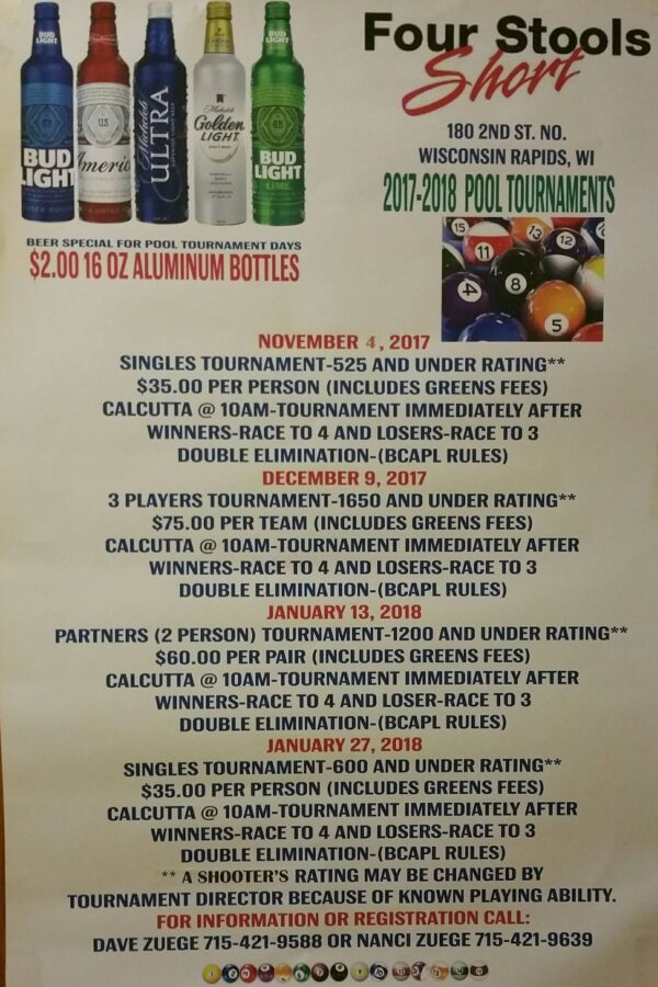 Tournaments Wisconsin Billiards Hall Of Fame